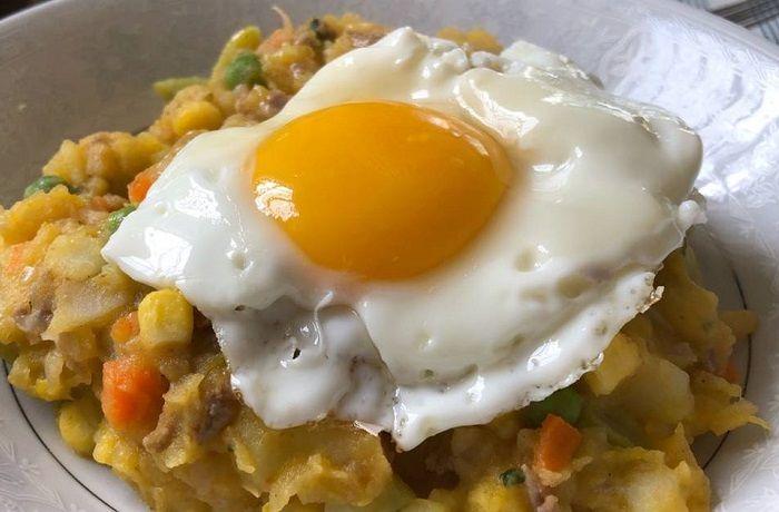 Receta de charquicán con huevo chileno