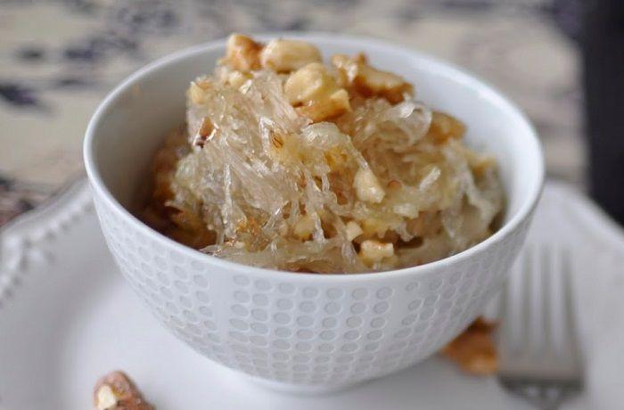 Receta de dulce de alcayota con nueces