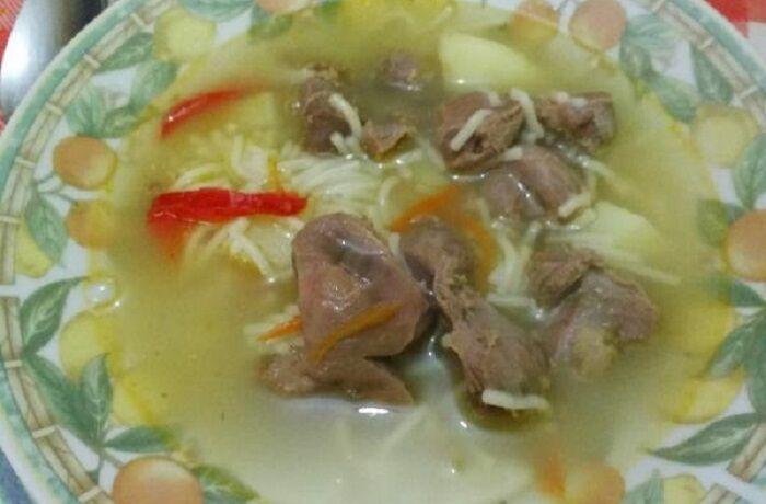 Receta de sopa de contre de pollo