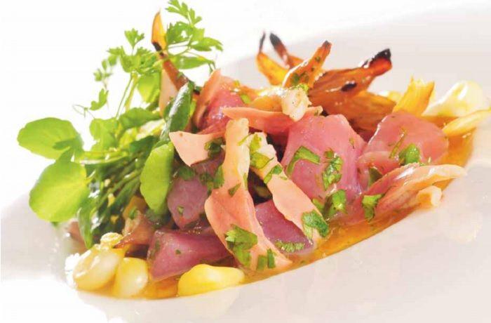Receta de ceviche de atún y machas chileno