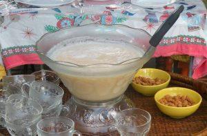 Receta de ponche de chirimoya chilena