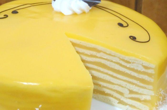 Receta de torta de panqueques de naranja