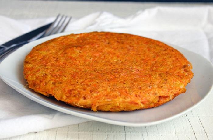 Receta de tortilla de zanahoria