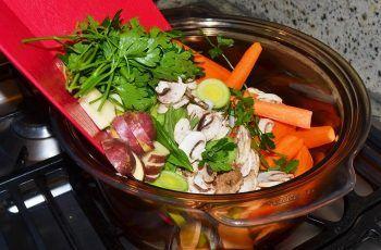 Receta de cocimiento de verduras