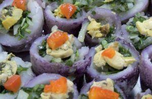 Receta de papas meñarki rellenas de verduras