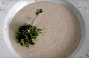 Receta de sopa de piñones