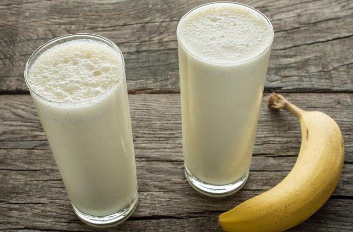 Receta de leche con plátano